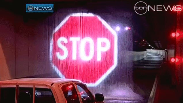 Australia's Water Curtain Stop Signs Are A Great Idea