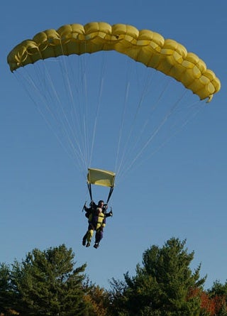 97-Year-Old Man Skydives For Charity
