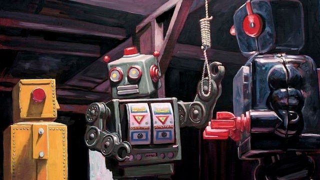 Concept Art Writing Prompt: A Robot Suicide