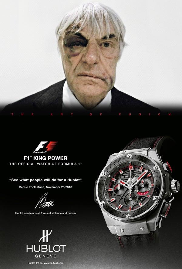 Mugged F1 Boss Turns Black Eye Into Watch Ad