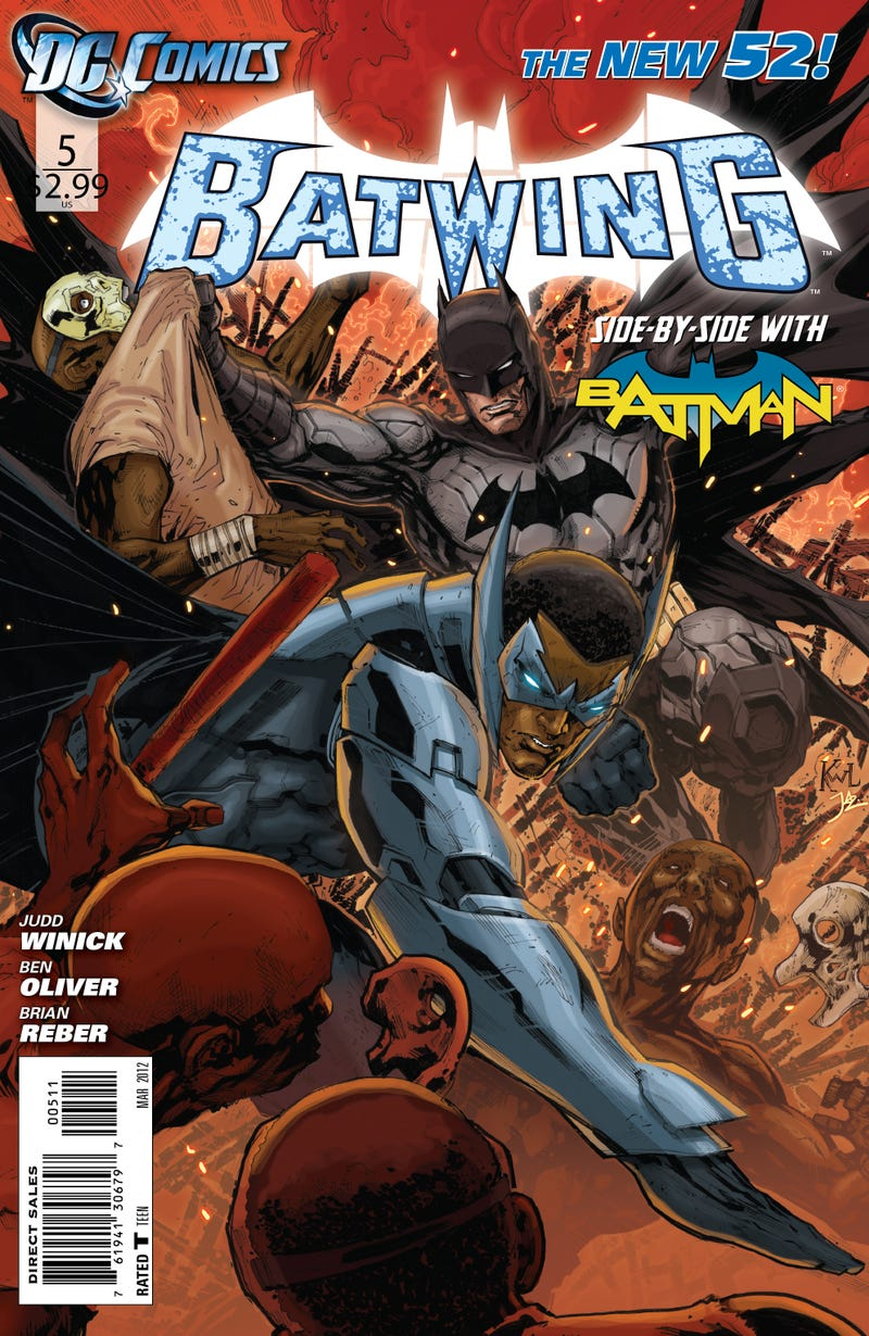 Check out a five-page preview of DC Comics' Batwing, guest-starring The Dark Knight himself!