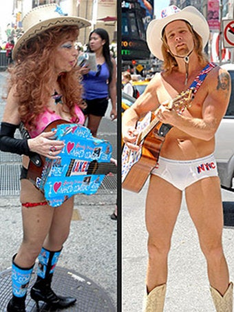 "Naked Cowgirl: ""I've Been Naked For Years"""