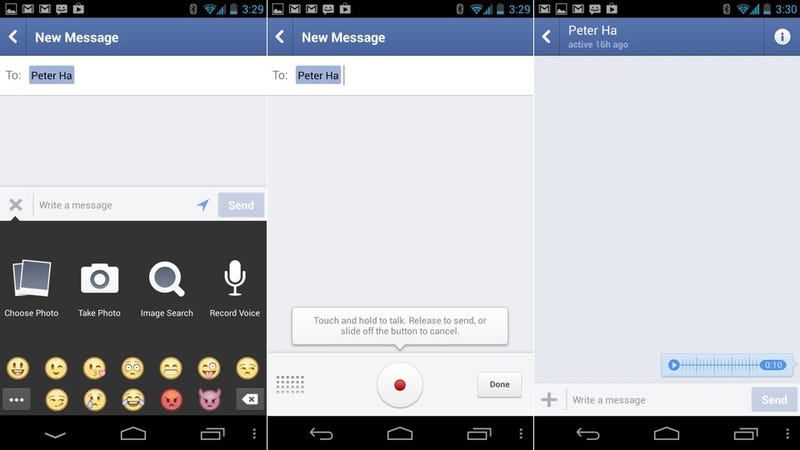 Facebook Messenger Now Allows You to Send Voice Messages (Update With Hands On)