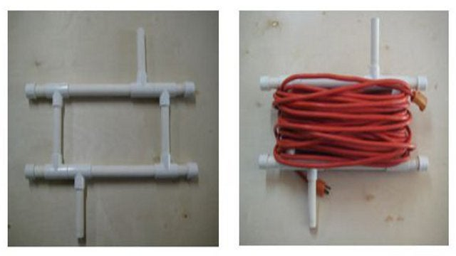 DIY PVC Extension Cord Caddy