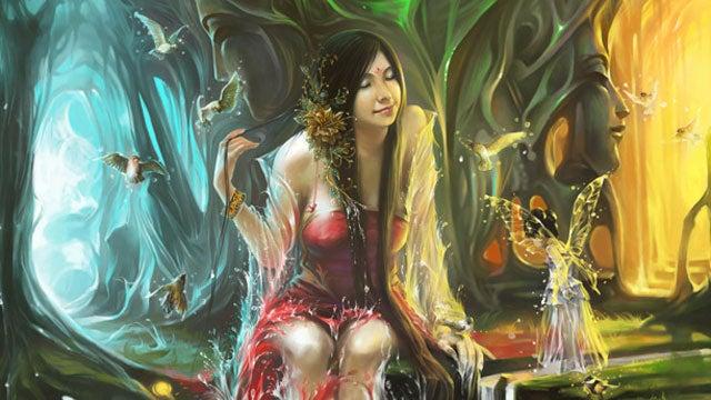 Get swept away by fantasy princess concept art