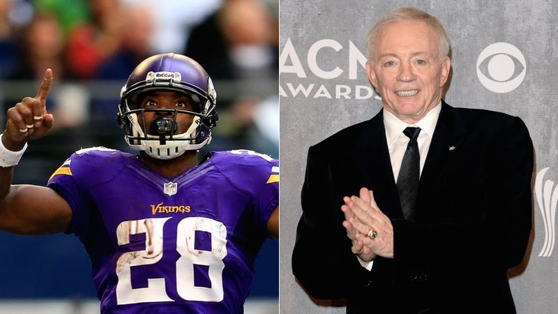 Report: Adrian Peterson Told Jerry Jones He Wants To Play For Dallas