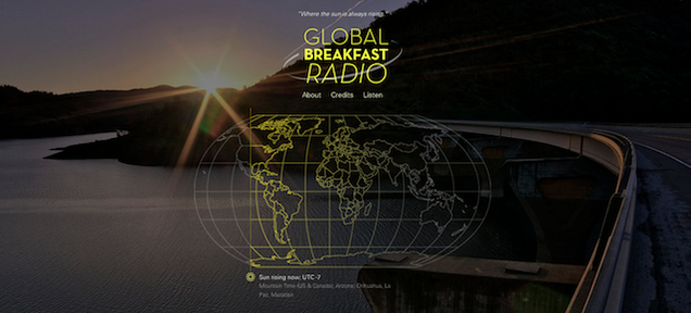 This Site Broadcasts Radio From Wherever the Sun Is Rising
