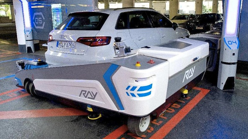 Robotic Forklift Valet Doesn't Even Need To See Inside Your Messy Car