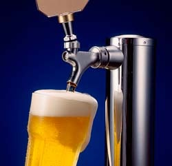 Draft beer in japanese