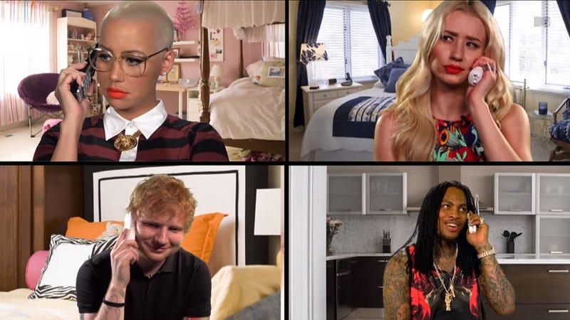 Amber Rose, Ed Sheeran, Iggy Azalea and Waka Flocka Reenact 'Mean Girls'
