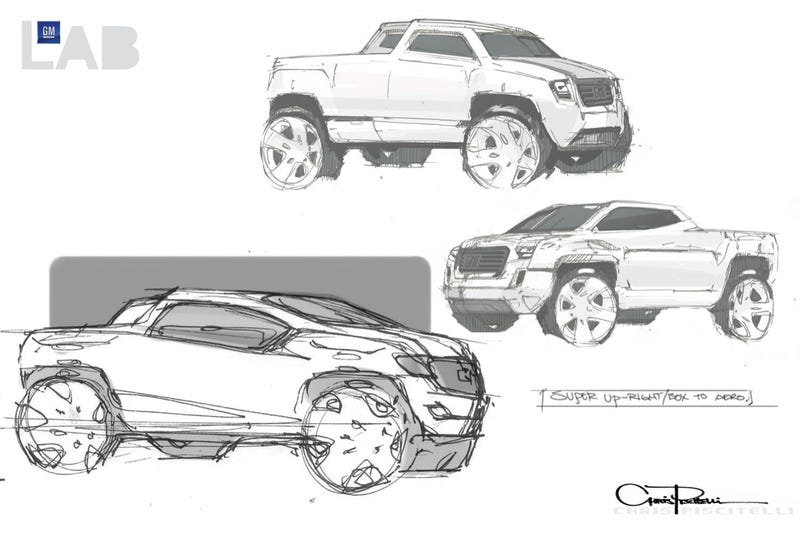 Bare Necessity Truck Concept Helps GM Forget Worries And Strife