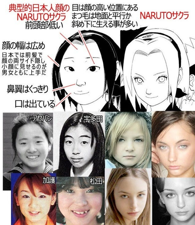 Anime Characters Don T Look Asian : Who s white and japanese in anime once again the