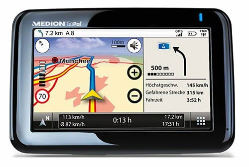 Medion GoPal P4425 SatNav has Fingerprint Recognition