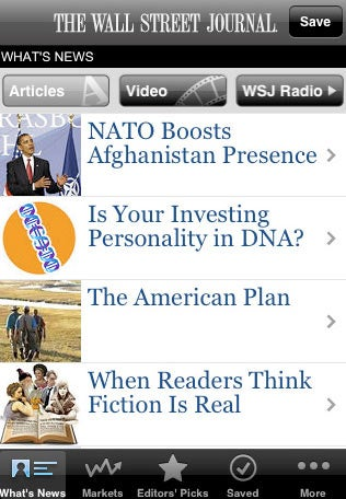 WSJ's Free iPhone App Is Already Better than the NYT App