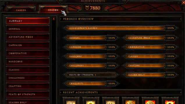 Two Players Already Unlocked Every Diablo III Season 1 Achievement