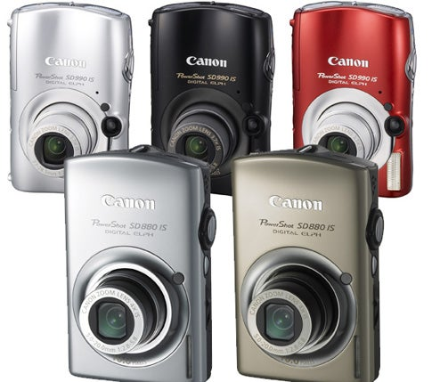 Canon PowerShots SD990 and SD880 Offer Image Stablization, Shininess