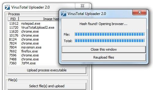 VirusTotal Uploader 2.0 Instantly Scans Files for Viruses Against 41 AV Apps