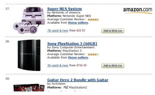 WTF Alert: SNES Outselling PS3 and 360 on Amazon.com