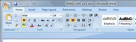 Screenshot Tour: Microsoft Word and Excel 2007