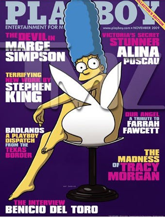 Marge Simpson Poses Nude For Playboy