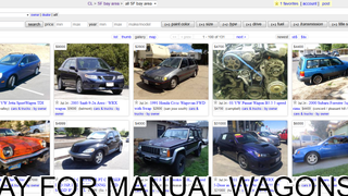 It Just Got A Lot Easier To Find Manual Wagons On CraigsList