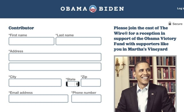 Obama Campaign Hosting Wire-Themed Fundraiser on Martha's Vineyard