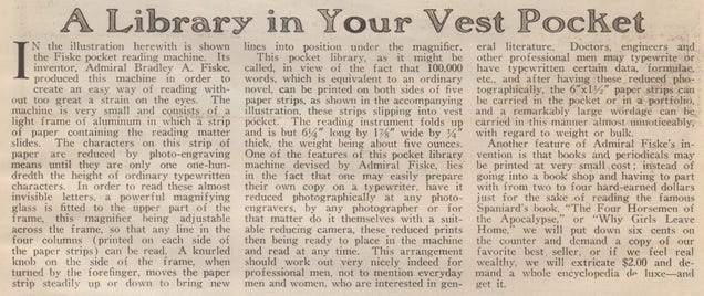The Kindle of 1922 Looks Super Uncomfortable