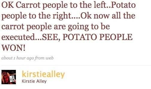 Kirstie Alley Leaks Assasination Plan to Twitterati