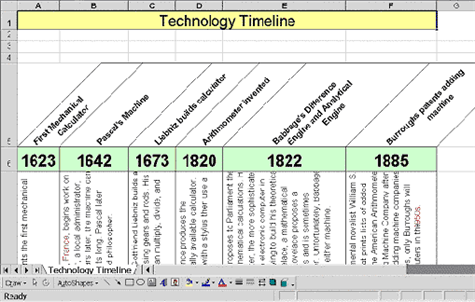 Use Excel to make a timeline