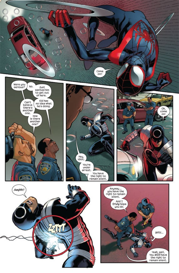Spider-Man is an extremely polite menace, in this first look at Ultimate Comics: Spider-Man