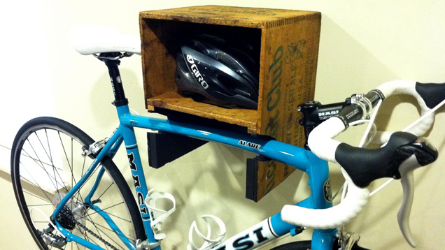 Turn a Crate into a Bike Rack and Shelf