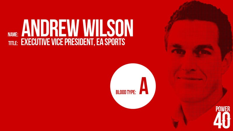 • 30. Andrew Wilson, Head of EA Sports