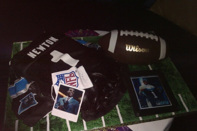 Here's A Picture Of Cam Newton's Absurdly Detailed Birthday Cake