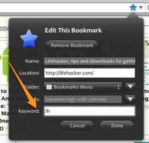 Add Bookmark Keywords to Firefox from the Address Bar
