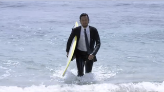A Wetsuit That Looks Like a Business Suit Is Hybrid Clothing Perfection