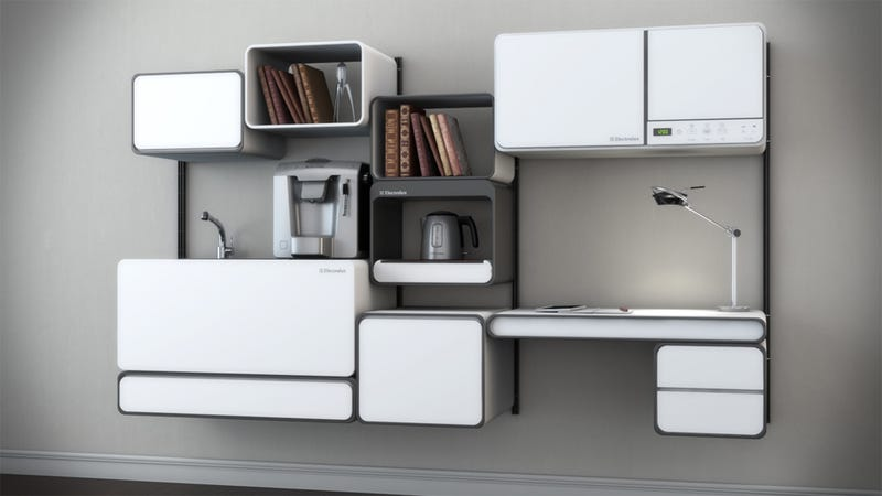 A Modular Kitchen With Office Space Too