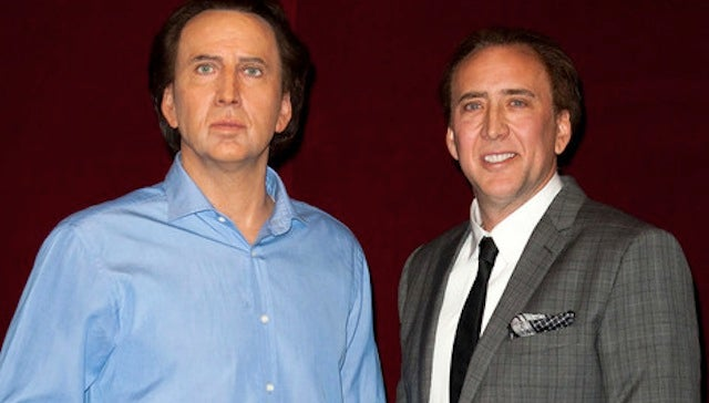 Nicolas Cage's Wax Figure Not Thrilled to Meet Actual Nicolas Cage