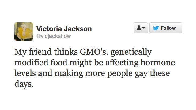 Victoria Jackson Thinks Genetically Modified Foods Are Making Us All Gay
