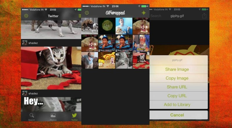 GIFwrapped Saves GIFs from Twitter, Photos and Searches for Later