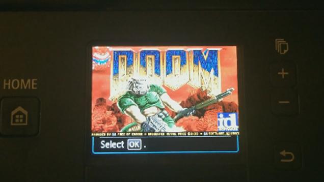 Logran ejecutar el videojuego Doom en una impresora