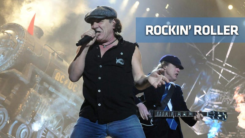AC/DC's Brian Johnson goes racing on the highway to hell