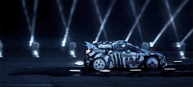 Watch Ken Block Jump An Audi R8... In The Dark