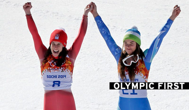 Women's Downhill Ends in Historic Gold-Medal Tie