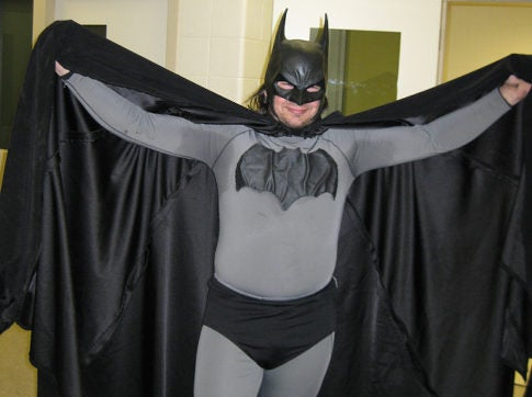 This Chubby Guy Dressed As Batman Got Arrested for Dangling from a Building