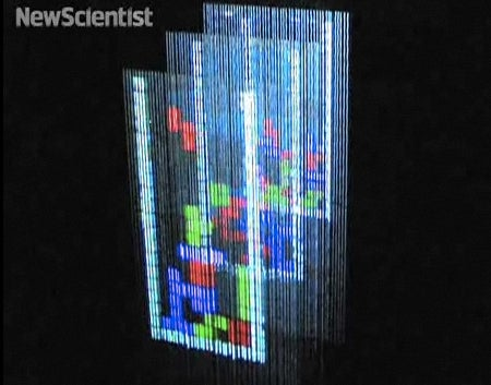 Water Droplets Create Multilayered Display