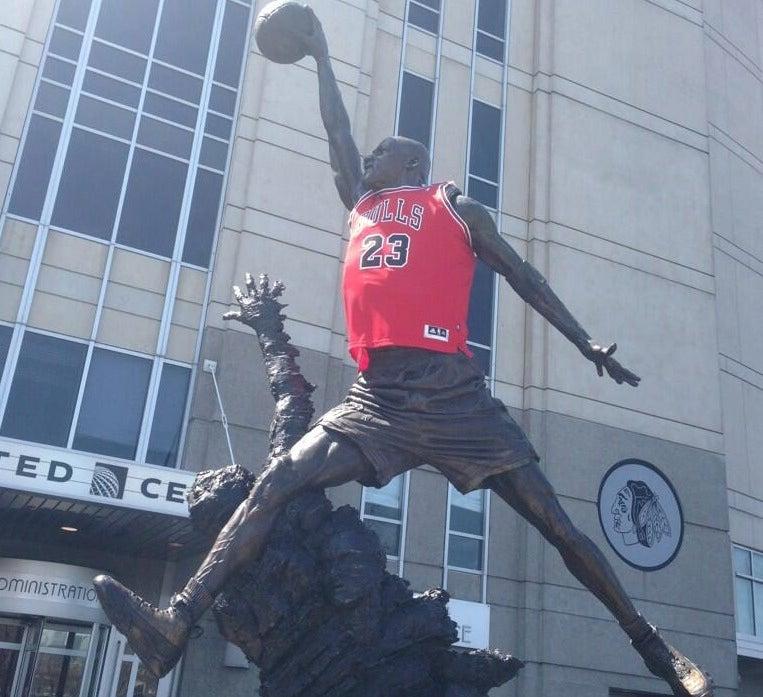 Bulls Fans Break Out The Big Guns, Clothe Michael Jordan Statue