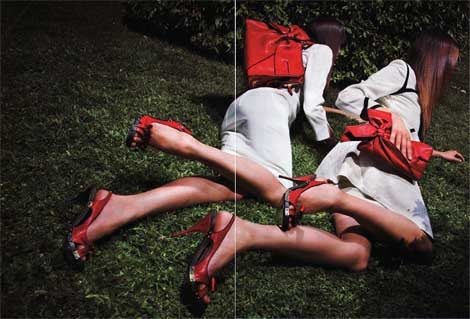 Valentino In Vogue: Models With Ennui Playing Invisible Croquet