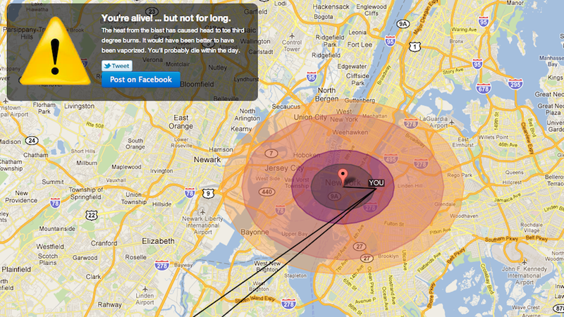 Check If Your House Will Be Vaporized in a Nuclear War