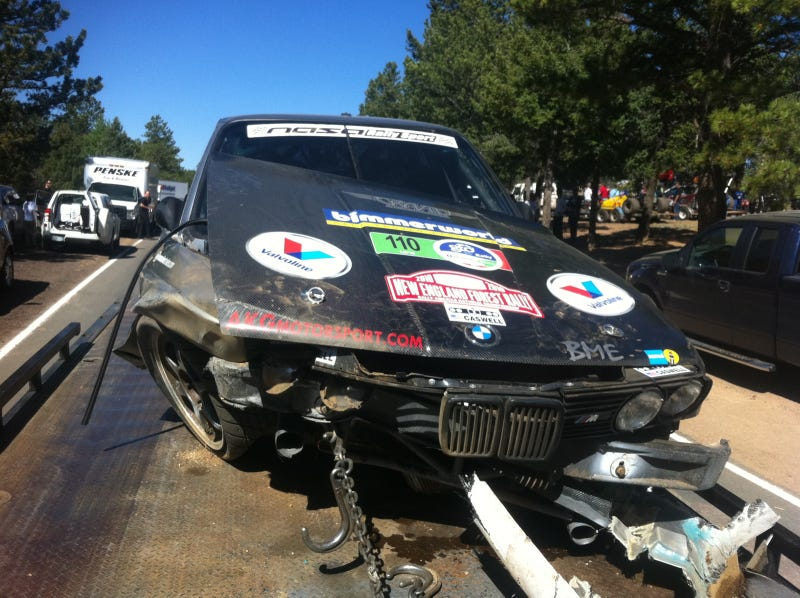 Bill Caswell crashes out at Pikes Peak