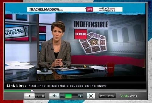 Jamie Leigh Jones Takes On Pro-KBR Senators On Rachel Maddow